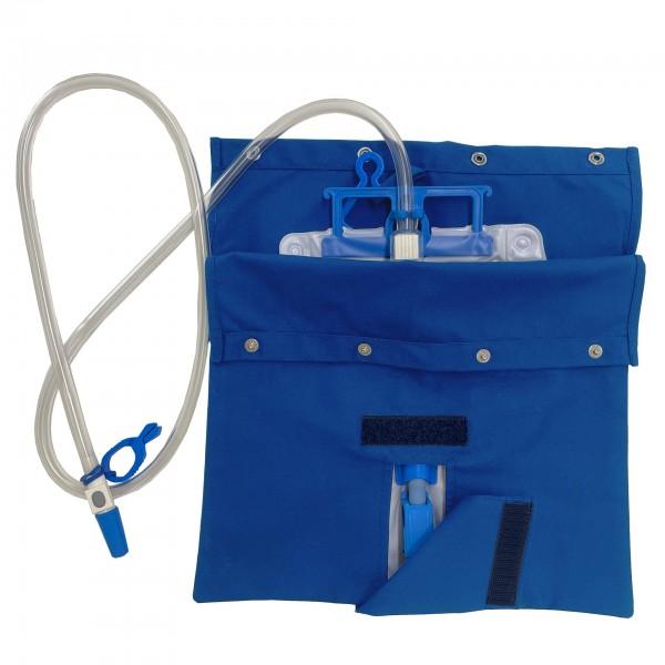 Stoffbezug für Katheterbeutel (Sichtschutz) - royalblau