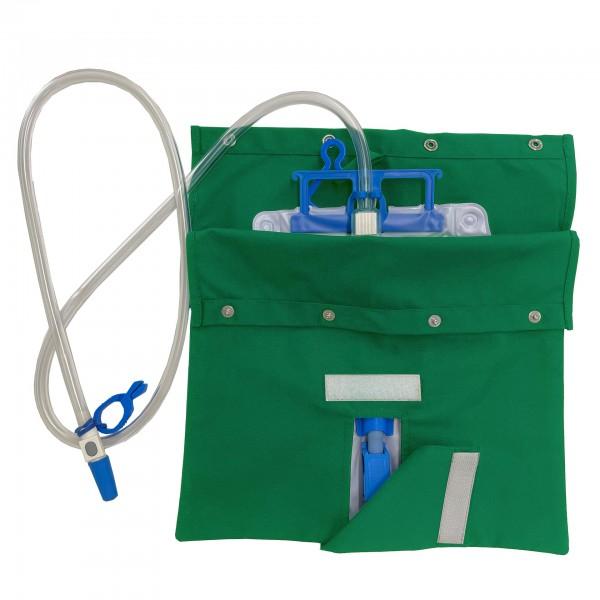 Stoffbezug für Katheterbeutel (Sichtschutz) - irishgreen