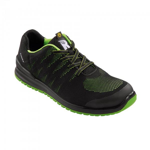 Halbschuh Sportstar S1P, Farbe: schwarz/grün